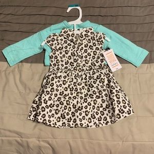 3m 2 piece leopard print dress and sweater